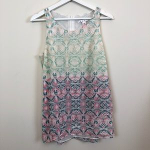 CAbi Patterned Tank Top Size Small